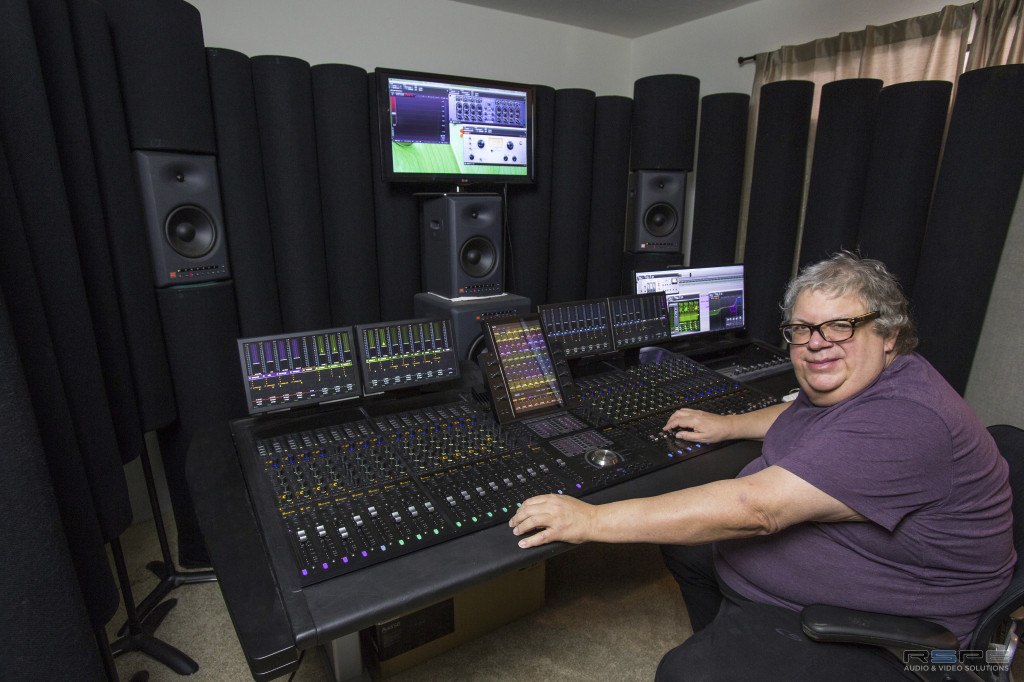 Mick Guzauski in his Los Angeles Studio